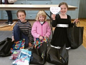 Our children with the Church World Service kits they made.
