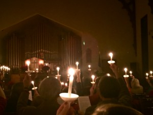 Candles of hope, peace, love and joy