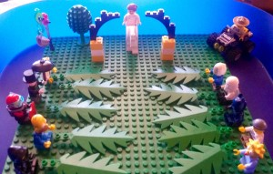 Caleb Peters created this lego Palm Sunday scene last year.