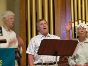 A solo by John Smith of the Jeremiah Ingalls Singers
