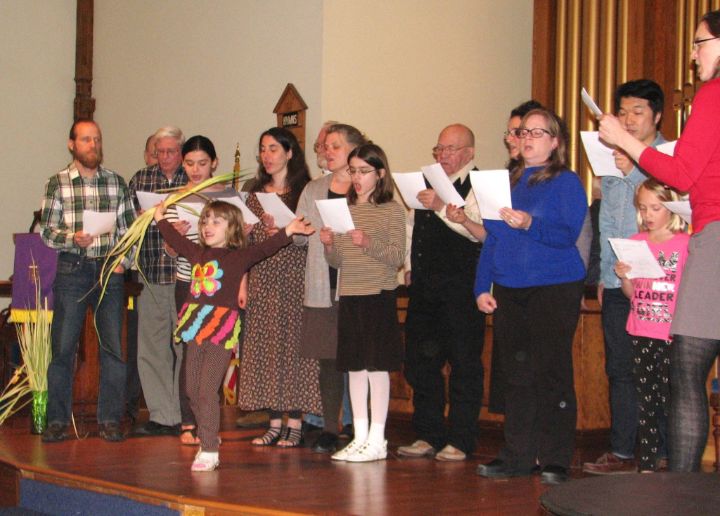 Grace United Methodist Church Choir with their dancer